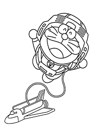 cartoon coloring pages doraemon astronaut coloring pages for kids printable free
