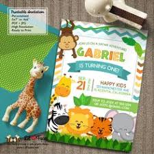 jungle animals birthday invitation diy printable professional
