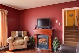 living room paint ideas with accent wall red accent wall in living