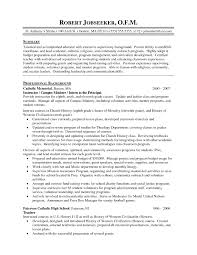 Ministry Resume Template Exles Of Resumes Resume Template Objective Part In