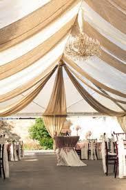 Colourful Ribbon Canopy Wedding Reception by A Church Gym Transformed Into A Wedding Venue My Only Problem Is