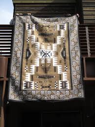 Tom Russell Navajo Rug Storm Pattern Rug By Esther Tom Large Size Two Grey Hills