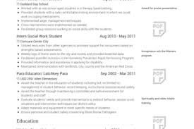 Social Work Resumes Examples by Social Work Intern Resume Sample Reentrycorps