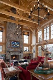 timber frame great room lighting timber frame great room