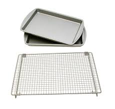 Overstock Com Le Chef Basic Baking Sheets And Cooling Rack Set Free Shipping