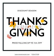thanksgiving sale autumn fall season discount stock vector 732417229