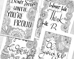 printable mindfulness quotes art therapy etsy