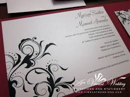 wordings simple red and black pocket wedding invitations with