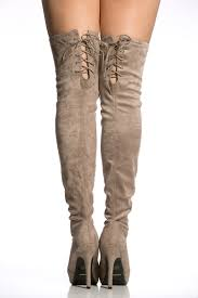 s boots taupe taupe faux suede thigh high boots cicihot boots catalog s