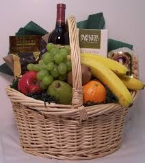 whole foods gift basket large fruit and wine gift basket accents et cetera