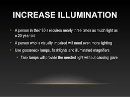 lighting for visually impaired tools helping visual impairment low vision and macular degeneration