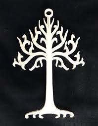 lotr lord of the rings white tree of gondor ornament cake