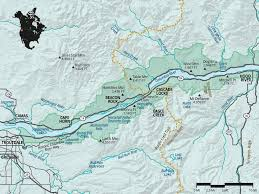 Red River Gorge Map Columbia River Gorge National Scenic Area Oregon