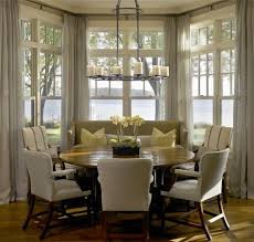 kitchen bay window curtain ideas curtain ideas for bay windows in dining room gopelling net