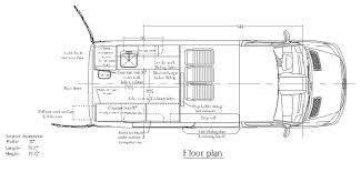 mercedes sprinter cargo van floor plan campers pinterest
