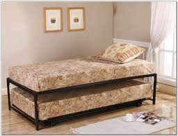 bedding picturesque twin trundle bed frame size roll out steel