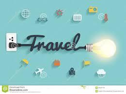 Creative Design Ideas by Vector Travel Ideas Concept Creative Light Bulb Design Stock