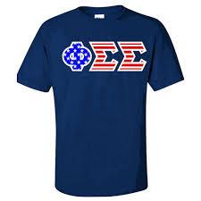 Phi Kappa Psi Flag Phi Sigma Sigma American Flag Greek Letter T Shirt California
