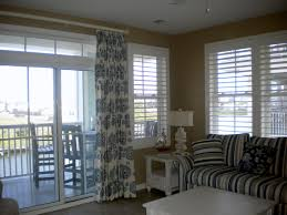 window treatments for sliders dining room modern with blinds