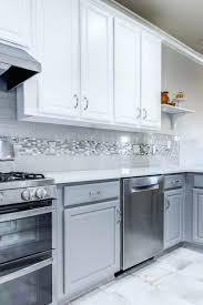 gray backsplash kitchen grey kitchen backsplash exle of a large transitional l shaped