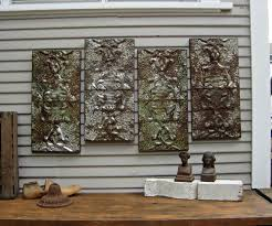 futuristic interior design featuring the wall rustic wood and metal wall art ideas roomy
