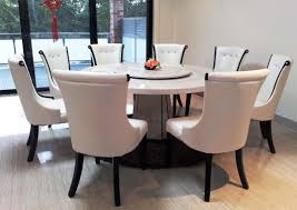 table noticeable alarming white round dining table large