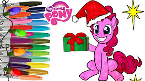 my little pony coloring book pages pinkie pie christmas mlp how to