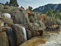 Waterfall Ideas For Backyard Exterior Design Outstanding Backyard Waterfall Pictures For