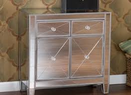 Mirrored Glass Nightstand Bedroom Furniture Sets White Bedside Table Cabinet Small Bedroom