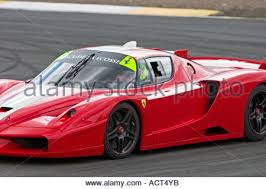 enzo fxx enzo fxx 2006 race car at knockhill racing circuit stock