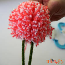 floral pom pom gift toppers free tutorial on moogly