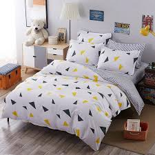 Baseball Bed Sets Nordic Style Bedding Set Brief Quilt Cover Blue And White