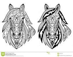 ornamental horses stock vector image 58921040