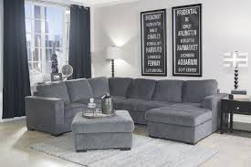 Grey Chaise Sectional Mor Furniture For Less The Claire 3 Piece Right Facing Chaise