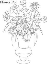 Pencil Sketch Of Flower Vase Flower Page Printable Coloring Sheets Flower Pot Coloring