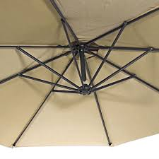 10 Foot Patio Umbrella Sunnydaze Steel 10 Foot Offset Patio Umbrella With Cantilever