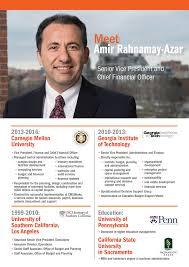 amir rahnamay azar named senior vice president and chief financial