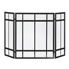 pleasant hearth glass fireplace door pleasant hearth mission style 3 panel fireplace screen fa017sb