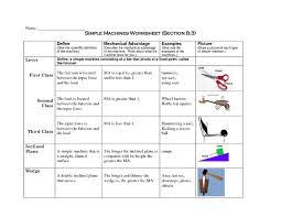 simple machines worksheet 3rd 8th grade worksheet lesson planet