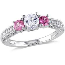 pink star diamond ring rings walmart com