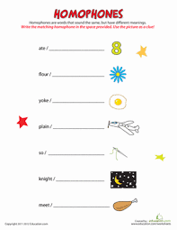 what are homophones worksheet education com