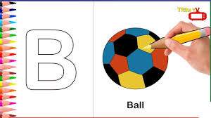 alphabet letter b coloring pages b coloring how to draw ball