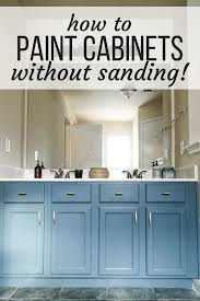 can i paint cabinets without sanding them painting a bathroom vanity without sanding