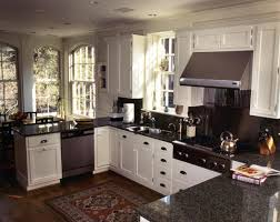 Dark Gray Kitchen Cabinets by U Shaped Kitchen Designs With Breakfast Bar Grey Concrete Floor