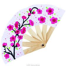 paper fan new year paper fan pack of 5 flower