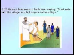 Blind Man At Bethsaida 043 The Gospel Of Mark The Blind Man At Bethsaida Wmv Wmv Youtube