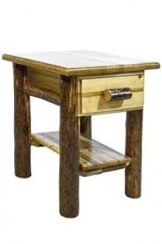 Curved Nightstand End Table Pine Nightstands Foter