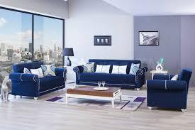 Blue Living Room Set 2494 94 Royal Home Sofa Set Riva Blue 3pc Sofa Sets