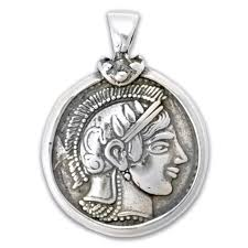 owl necklace pendants images Athena and owl tetradrachm silver coin pendant greek jewelry jpg