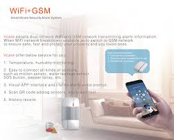 Home Wifi System by Vcare Gsm Wi Fi Smart Home Security System With Ip Camera Door